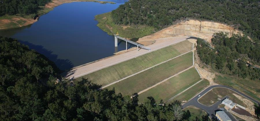 Aerial image of Shannon Creek Dam.