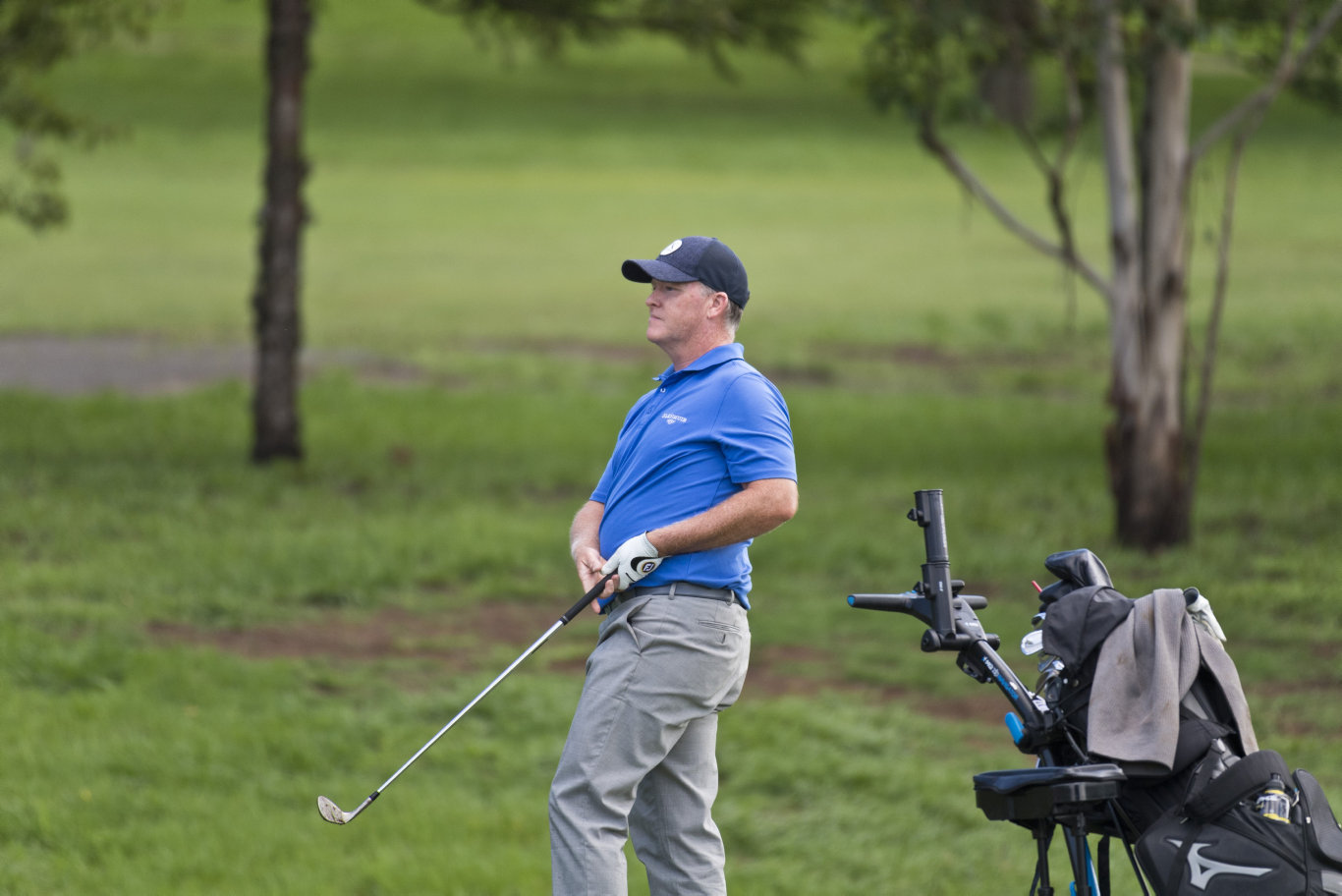 Marcus Fraser plays in the Queensland PGA Championship round two at City Golf Club, Friday, February 14, 2020. Picture: Kevin Farmer