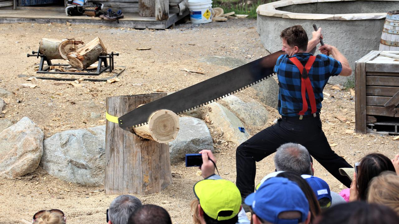 The Grouse Mountain Lumberjack Show. Picture: Shirley Sinclair