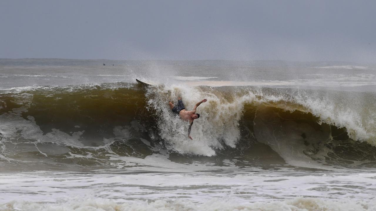 Surfers at Mooloolaba have found the going tough over the past three days. The inexperienced also found Noosa dangerous.