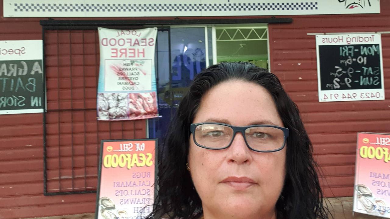 Chef Express Catering owner Kaylene Scott outside her store. Picture: Kaylene Scott