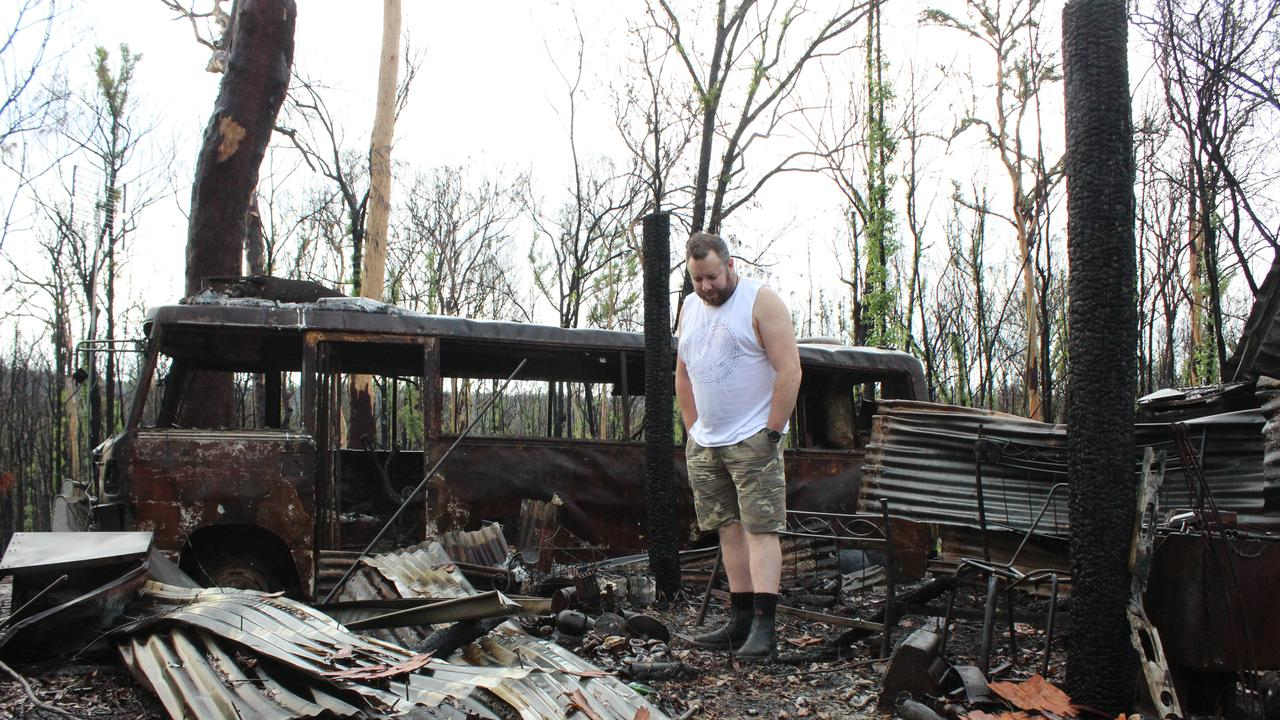 Simon Porter's Nymboida property was destroyed by fire in November.