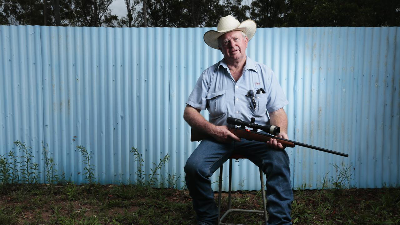 Gympie Smallbore Rifle Club Captain Laurie Aberdein. Taken three years ago. Photo Lachie Millard