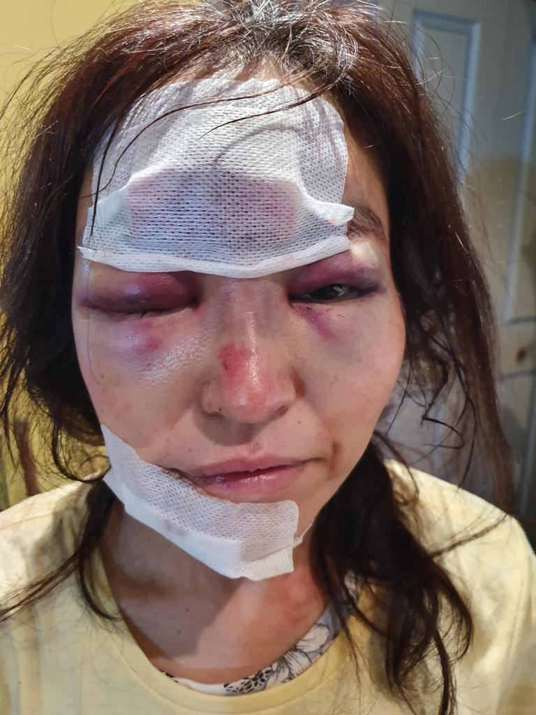 Police are pleading for assistance after a woman was randomly - and savagely - attacked and robbed on a suburban Kingswood street. Picture: NSW Police