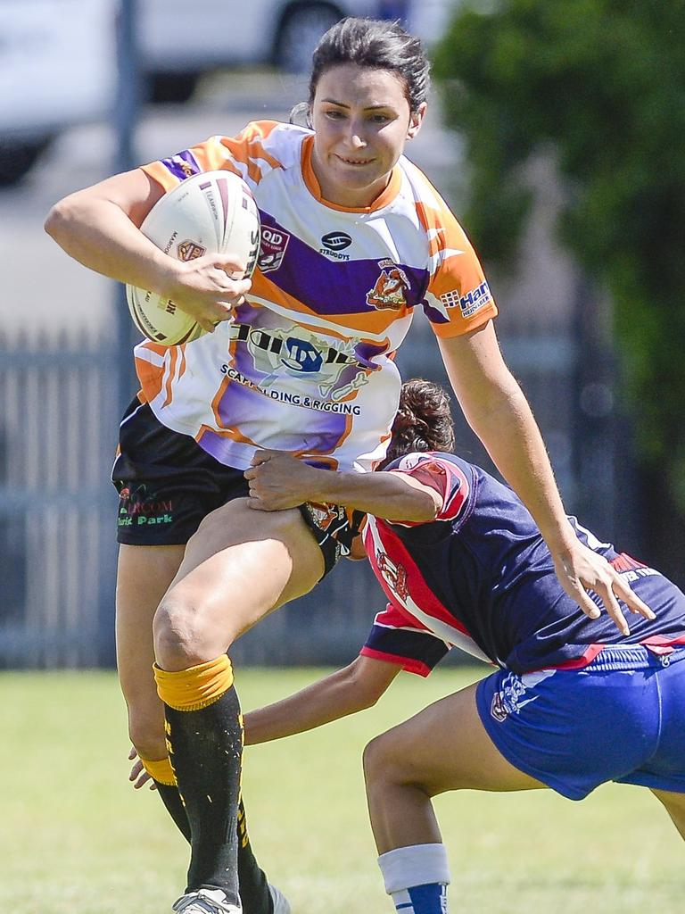 Gladstone Valleys-Roosters play Gladstone Wallabys in the Bundaberg Gladstone Intercity Womens Competition at Marley Brown Oval on 13 April 2019. PICTURE: Matt Taylor
