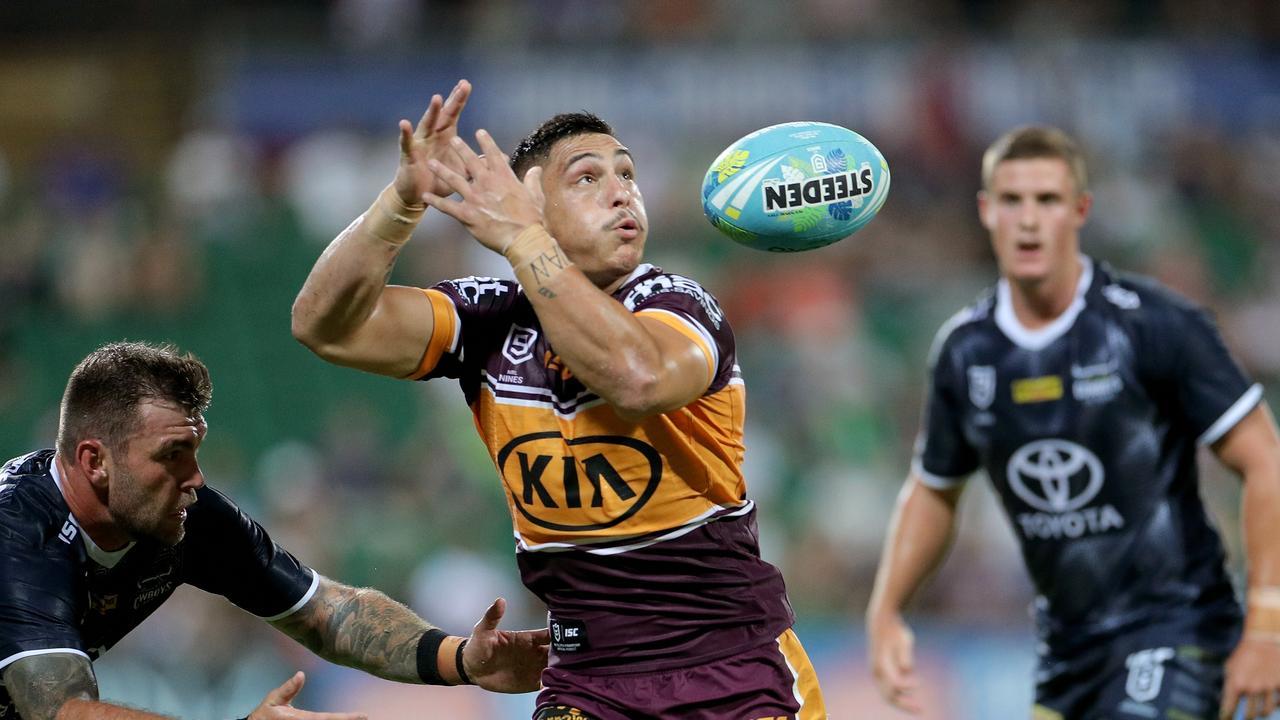 Handling errors cost Brisbane dearly. Picture: Richard Wainwright/AAP