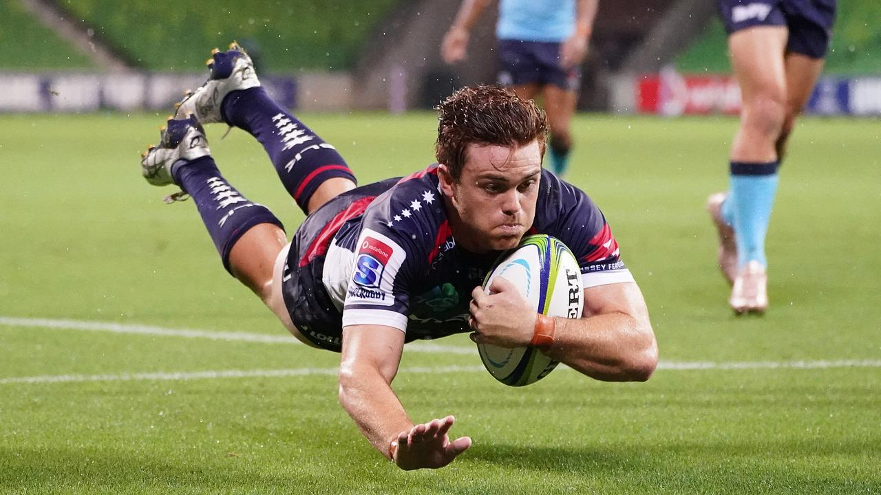 Andrew Kellaway sealed victory for the Rebels with two late tries. Picture: AAP