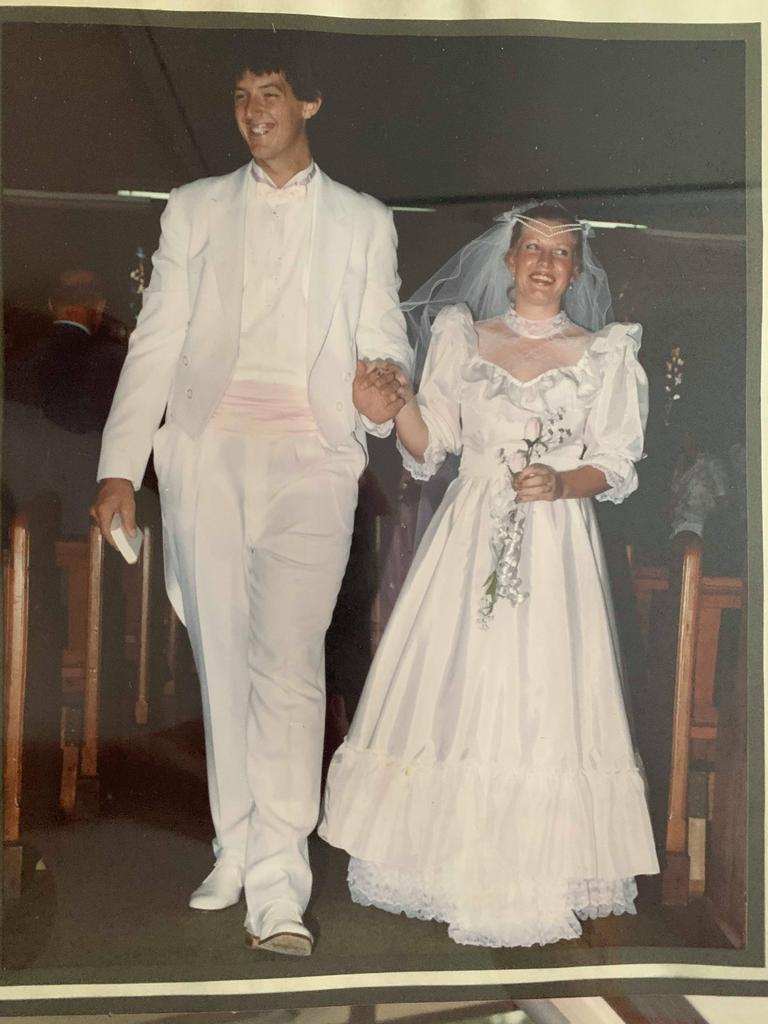 Steve and Toni Darlington on their wedding day In Manilla NSW.