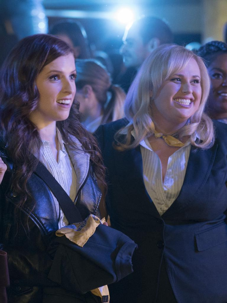 With Pitch Perfect co-star Anna Kendrick. (Picture: Supplied)