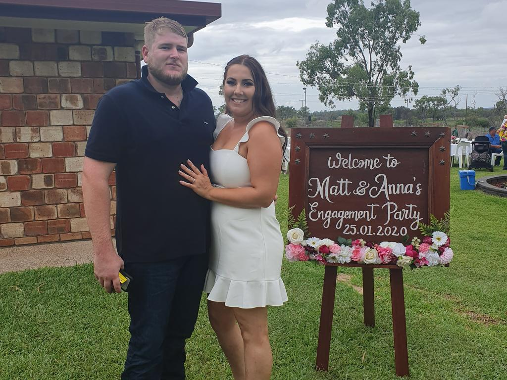 After an unexpectedly busy year, the couple held their engagement party in January, 2020.