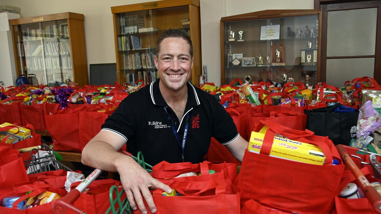 Appeal organiser Matt Gregg with the Loads of Love hampers. Picture: Bev Lacey