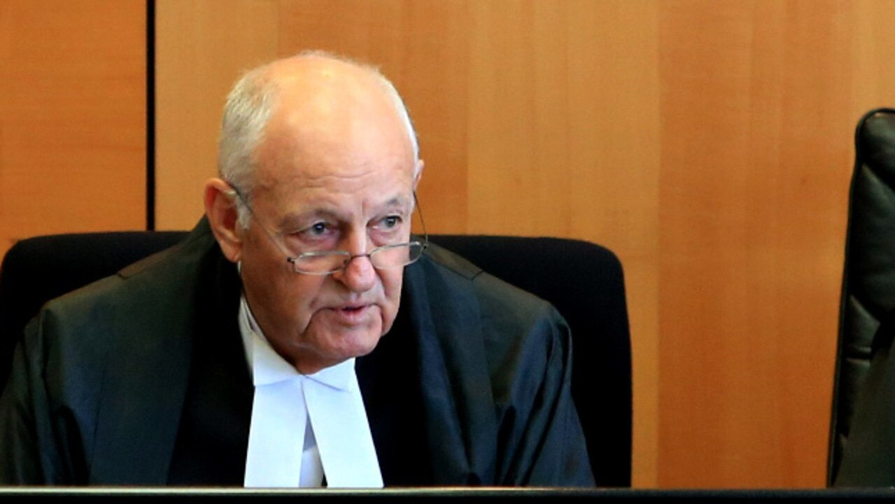 Gold Coast Judge Clive Wall just before his retirement in 2016. He is now urging the judiciary and state government to read his 7-year-old paper on youth crime. Picture: Tim Marsden