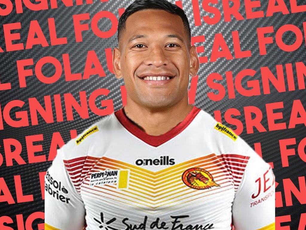 Catalans Dragons have signed Israel Folau on a 1 year deal. Picture: Instagram