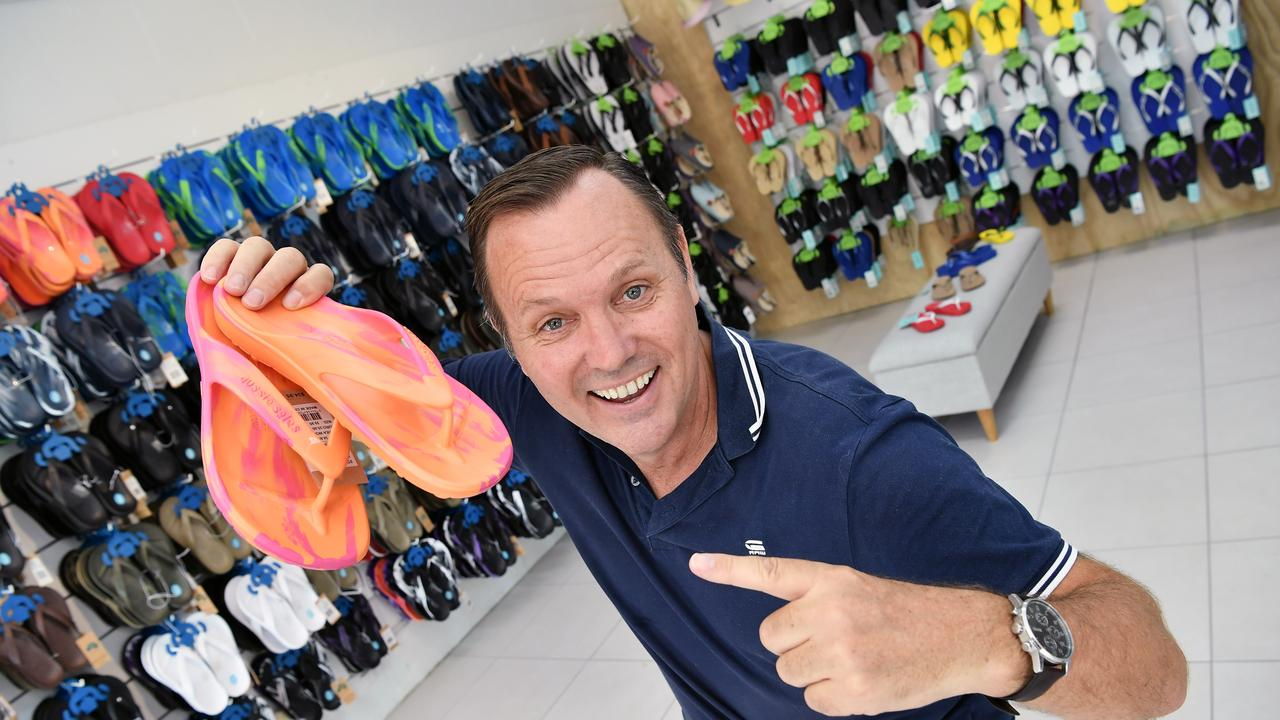 Aussie Soles company's founder Craig Taplin has returned to his roots to open a new store in Eumundi, nearby his origins at the famous Eumundi Markets. Photo Patrick Woods / Sunshine Coast Daily.