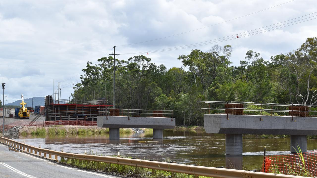 GYMPIE FLOOD WATCH: The near-flooding Coondoo Creek Bridge on Thursday, February 13, 2020.