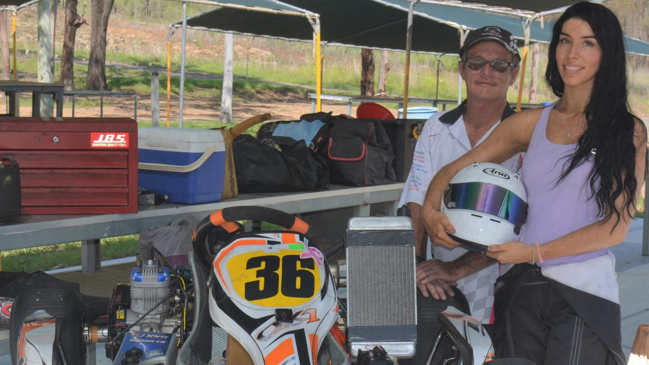 Norton Rogers Memorial - father and daughter Lyall and Alex Rogers. PICTURE: Nick Kossatch