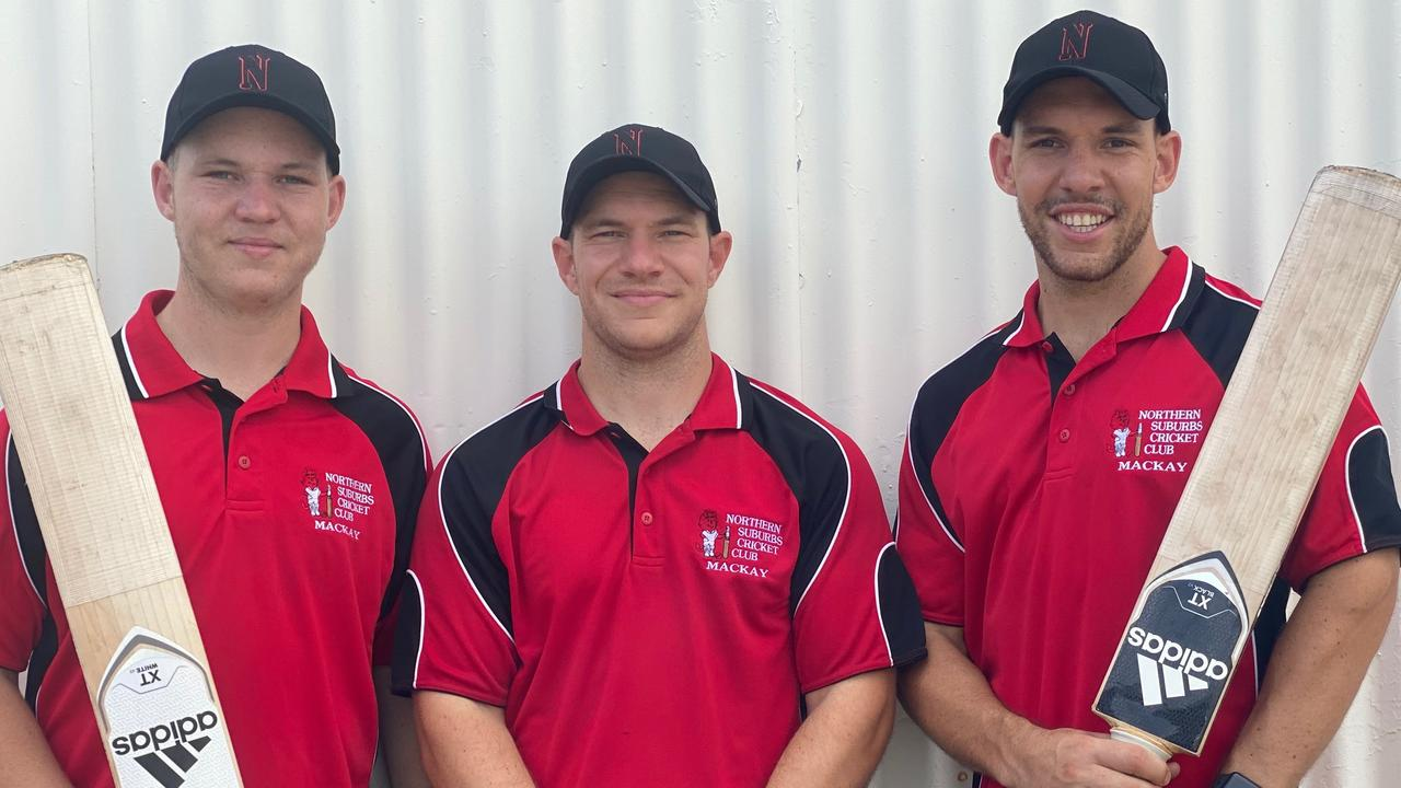 Brothers Wes (left), Laren and Darryn will play together for the first time when Norths face Souths in the DBCT Poole Cup on Sunday.