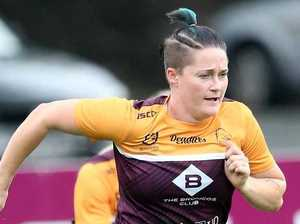 Chelsea Baker in action on Friday in Perth at NRLW Nines