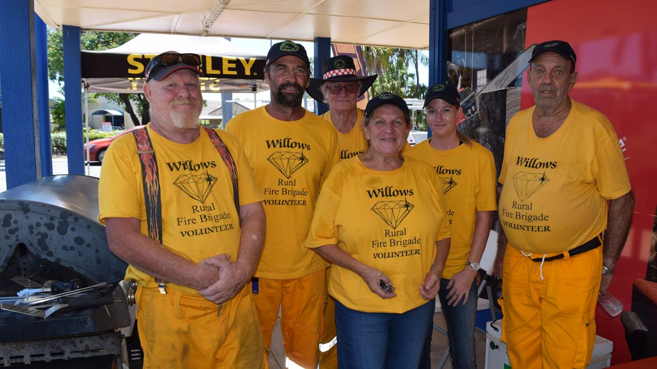 Part of the Willow Rural Fire Brigade crew held a barbecue fundraiser at Mine Warehouse Emerald on Saturday, February 15.