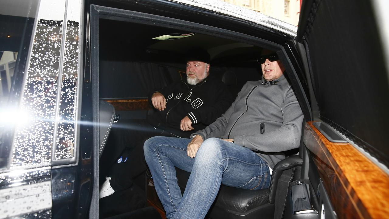 Sandilands and Simon Main pictured in a Rolls Royce. Picture: John Appleyard