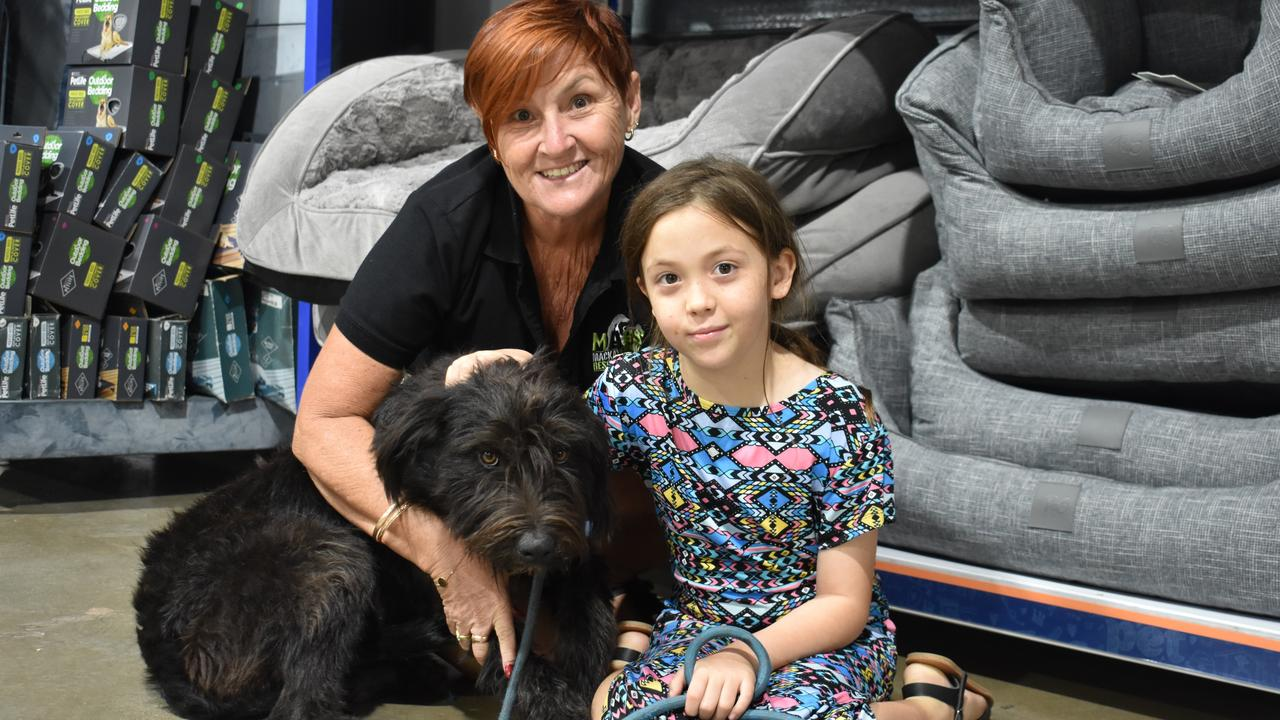 ADOPTION DAY: Alexis Blue, 9, from Mackay with Leanne Williams.