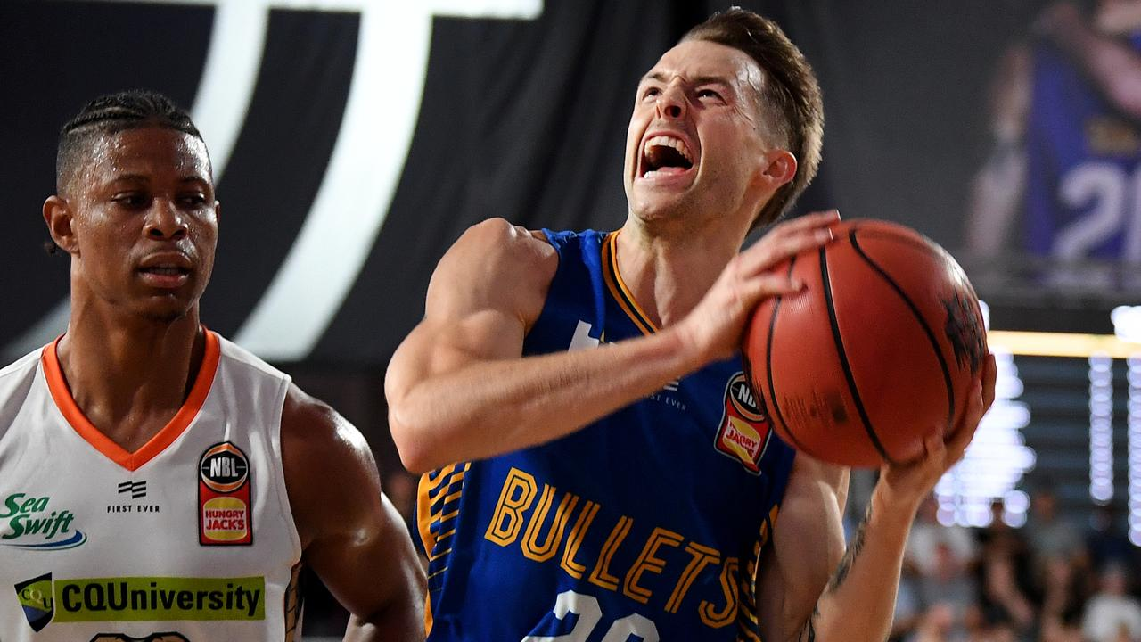 Nathan Sobey was in attack mode all game for the Bullets. Picture: AAP