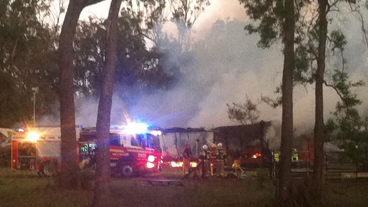 HOUSE FIRE: A home in Moorland has been destroyed by fire this afternoon.