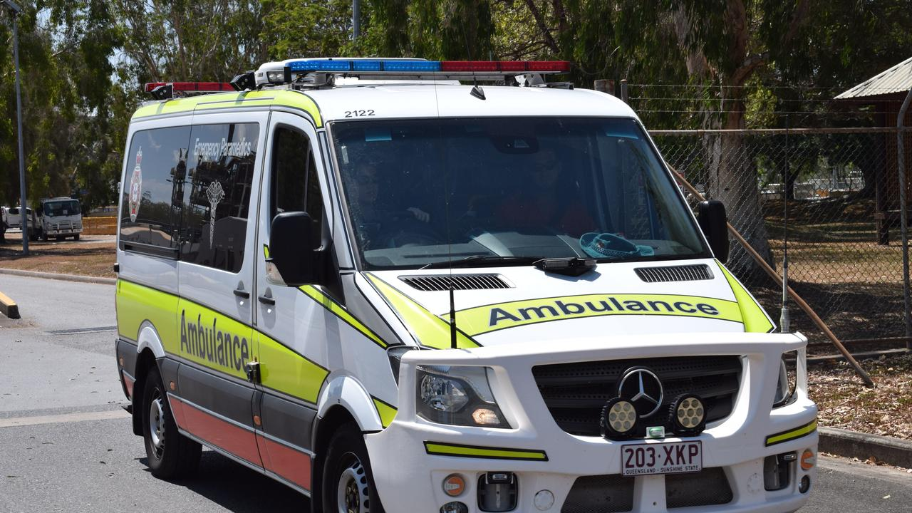 Queensland Ambulance Service paramedics responded to a traffic incident at Hatton Vale. Picture: Eilish Massie