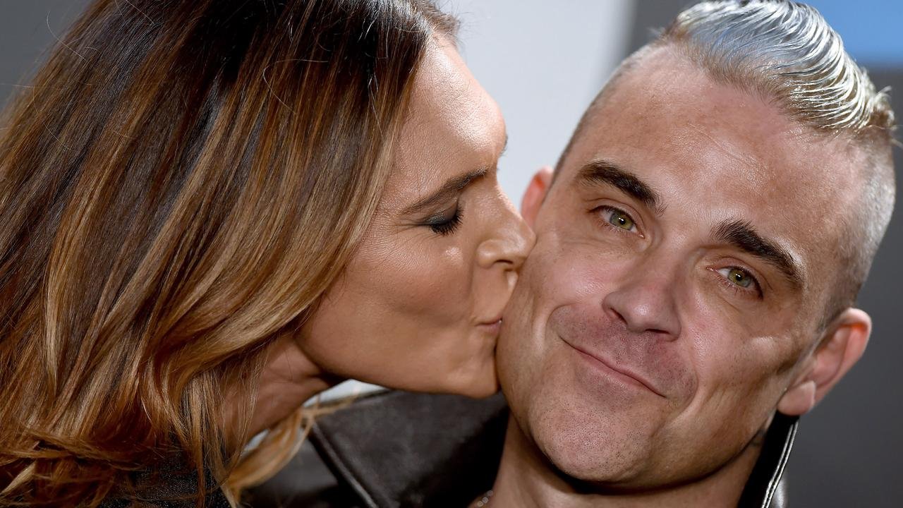 Robbie Williams and wife Ayda Field. Picture: Axelle/Bauer-Griffin/FilmMagic