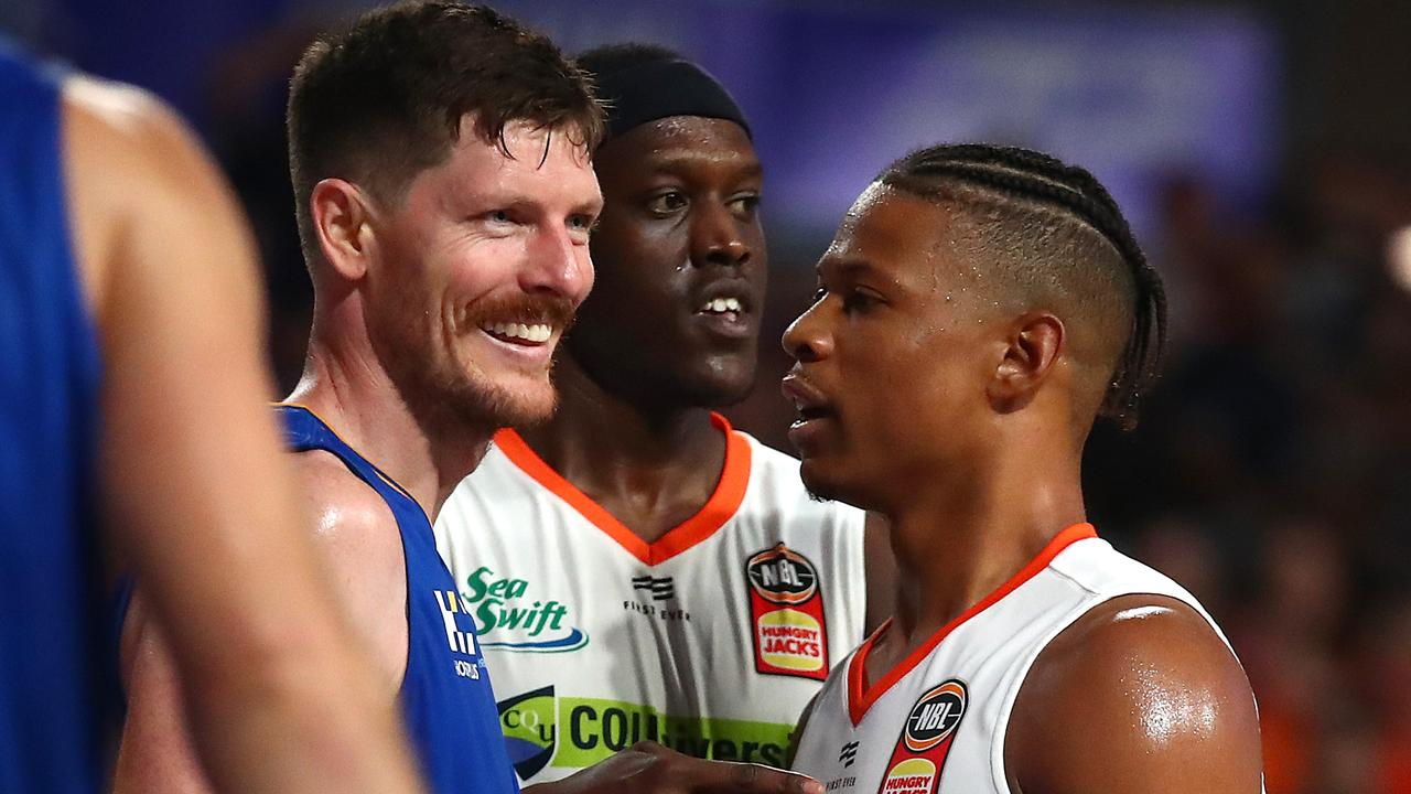 You'd be smiling like Cam Gliddon if you'd just dropped 25 points too. Picture: Getty Images