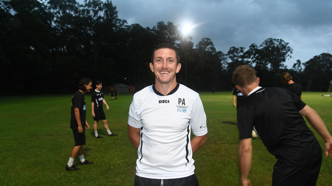 Sunshine Coast Wanderers Football Club ready for the new season.Coach Paul Arnison. Photo: Warren Lynam