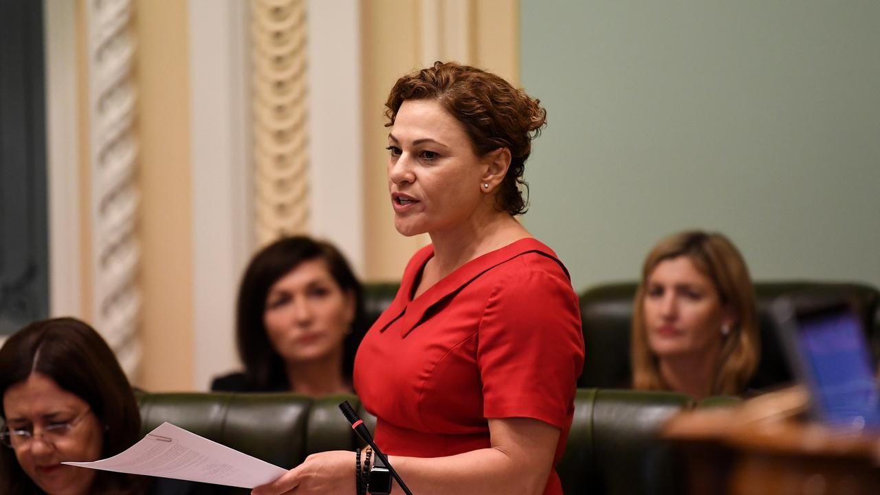 Treasurer Jackie Trad in Question Time recently. Picture: Dan Peled/AAP