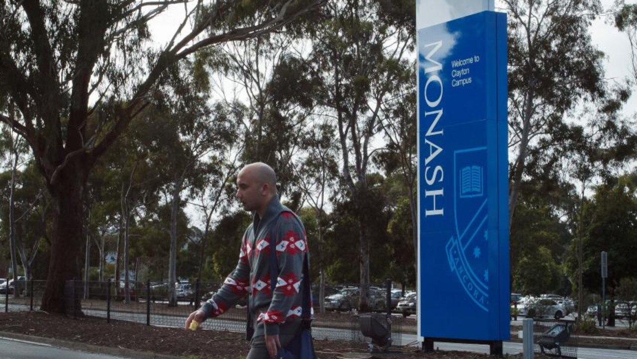 Monash University's semester one start has been affected by the coronavirus outbreak. Picture: Jake Nowakowski