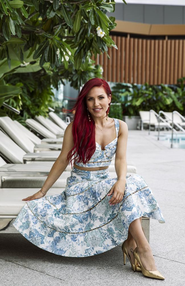 Sharna Burgess at Emporium Hotel South Bank. Picture: Mark Cranitch