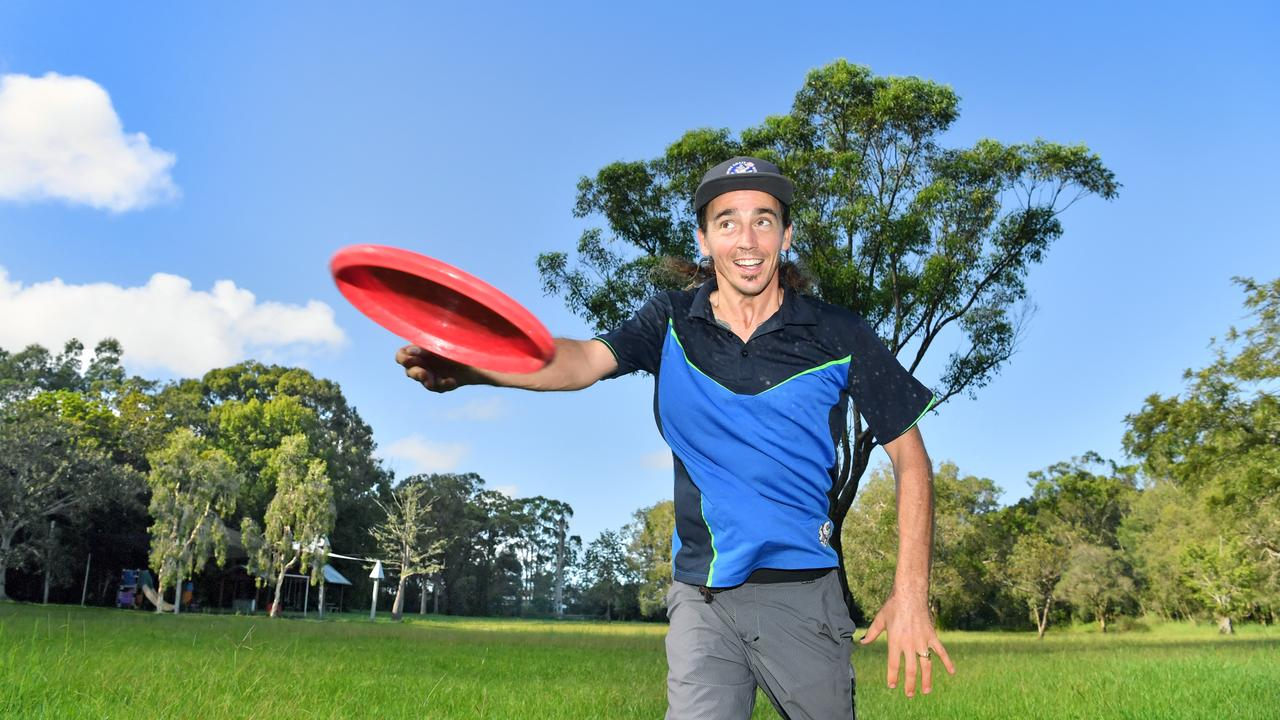 Patrick Ferris is part of the Sunshine Coast Disc Golf Club, and hopes council will back their bid for a permanent course.
