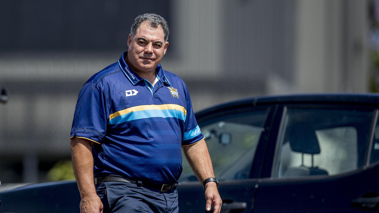 Mal Meninga travelled to Gympie to pitch the Titans to Fa'asuamaleaui. Picture: Jerad Williams