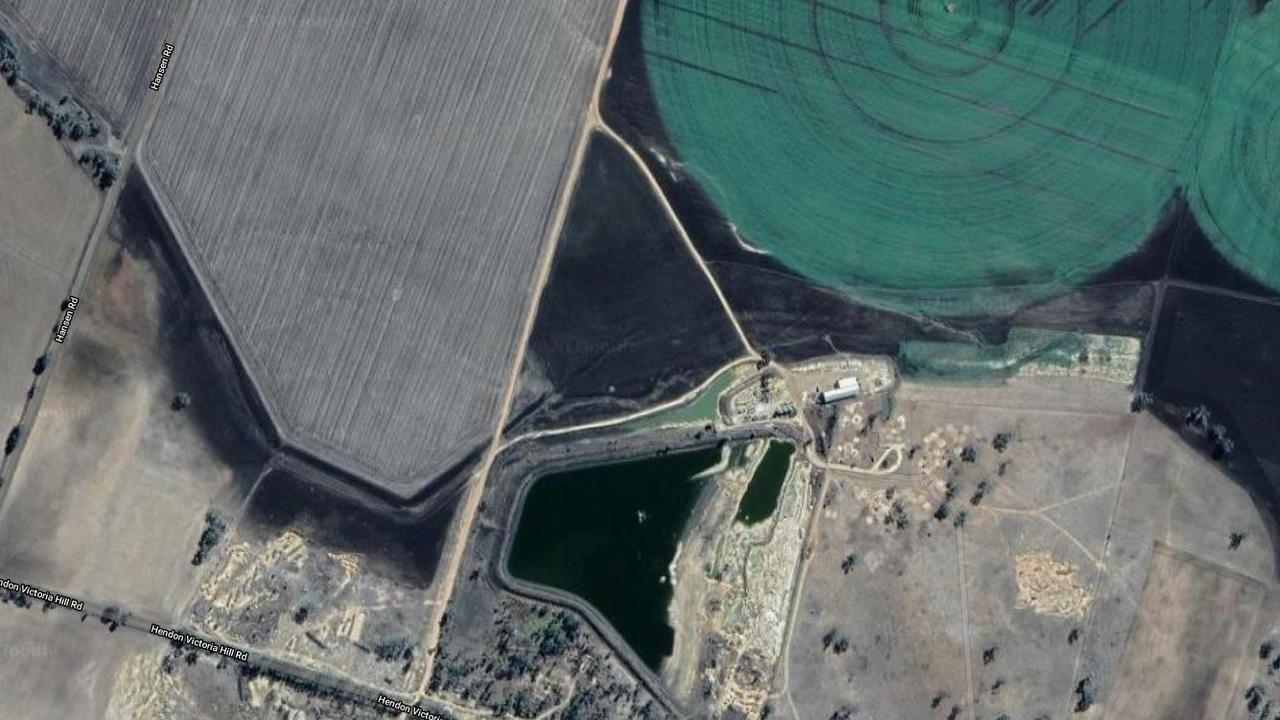 AERIAL VIEW: Satellite image of the quarry dam in Talgai.