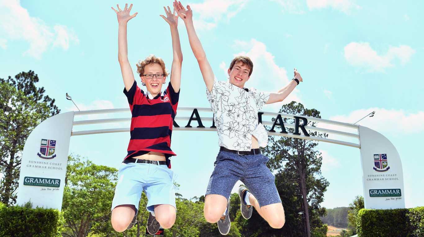 YOU BEAUTY: Op1 students from Sunshine Coast Grammar School Kristian Norved and Patrick Donovan. Photo: John McCutcheon / Sunshine Coast Daily