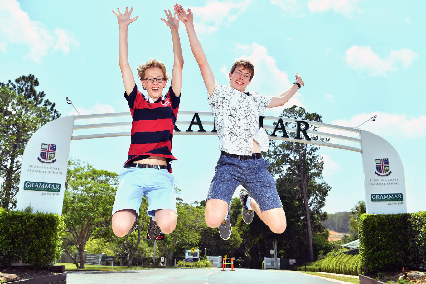 YOU BEAUTY: Op1 students from Sunshine Coast Grammar School Kristian Norved and Patrick Donovan. Photo: John McCutcheon / Sunshine Coast Daily
