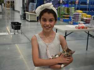 ADOPTION DAY: Isabella McGann, 8, from North Mackay.