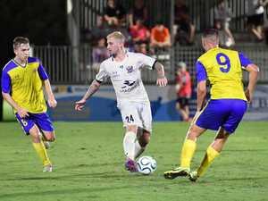 Magpie Crusaders Jordy Vlevgels vs Brisbane Strikers.