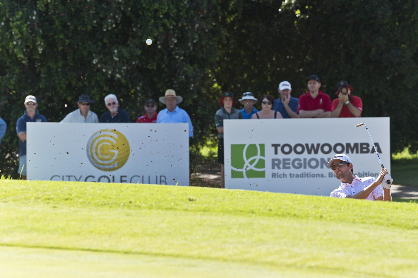 Michael Sim in a four-hole playoff for the 2020 Queensland PGA Championship at City Golf Club, Sunday, February 16, 2020. Picture: Kevin Farmer