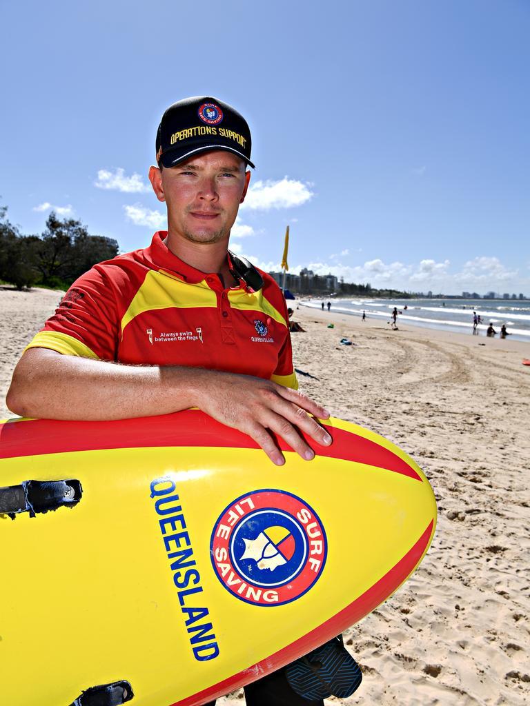 Sunshine Coast Lifesaver Duty Officer Jacob Thomson. Photo: Warren Lynam