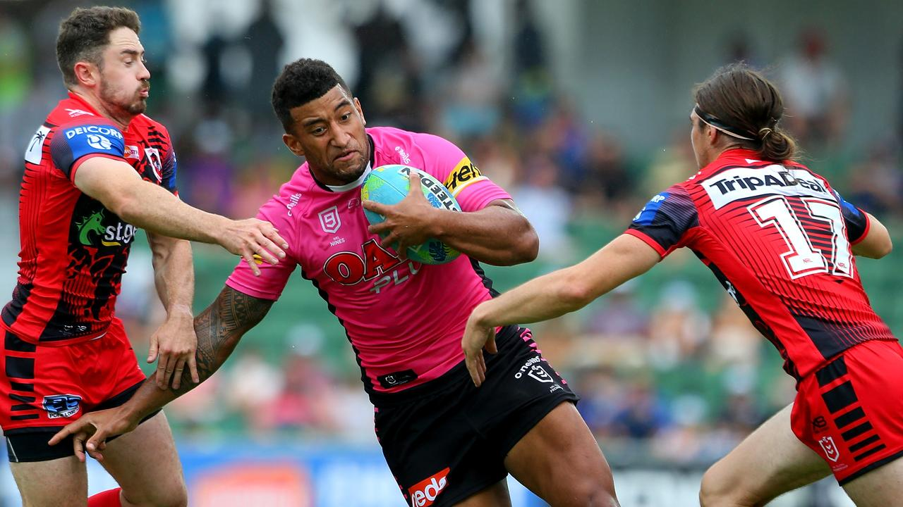 Viliame Kikau was at his damaging best for the Panthers. Picture: Getty Images