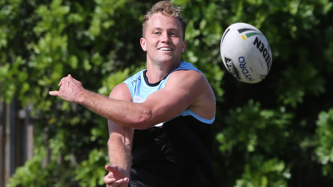 Matt Moylan is being eased back by the Sharks. Picture: Richard Dobson