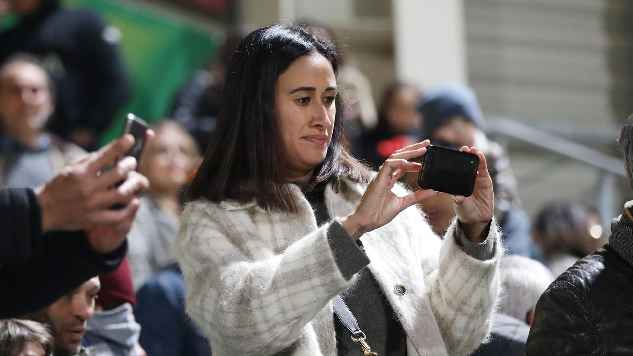 Maria Folau in the crowd. Picture: Ella Pellegrini