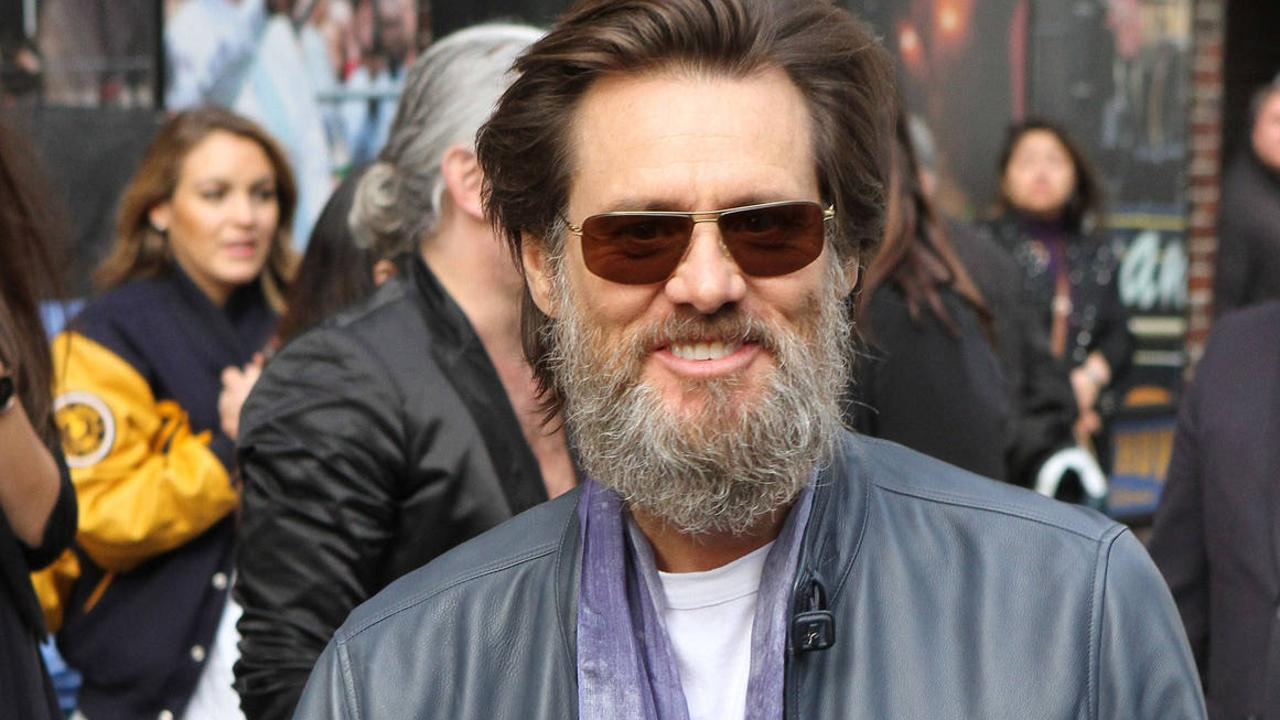 Jim Carrey sporting an unruly beard. Picture: Getty