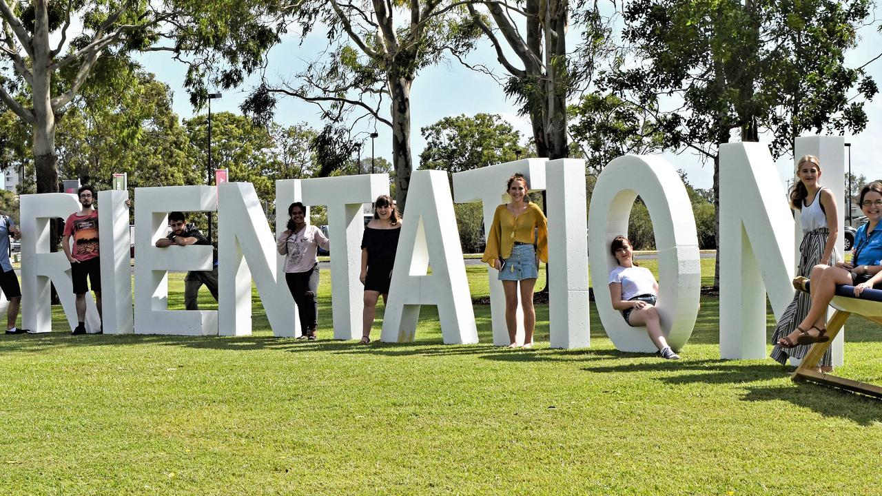 Students join in the fun of Orientation at USC's Fraser Coast campus.