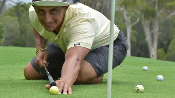 Noosa golf pro back on track after emotional health scare