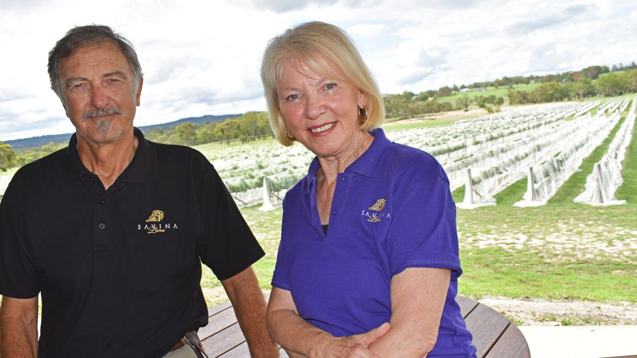 Savina Lane Wines' Brad and Cheryl Hutchings will enter the challenge. Picture: Matthew Purcell